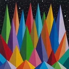 Okuda, Geometric Art, Sculpture Art, Abstract, Canvas, Artwork, Color, Design, Home Decor