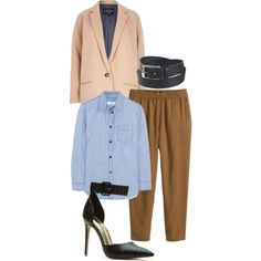 DENIM ON BROWN by kwasheretro on Polyvore featuring polyvore, fashion, style, Isabel Marant, River Island, H&M, global, wardrobestylist, personalstylist, KwasheRETRO and StyledByKwasheRETRO