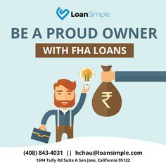 Be A Proud Owner With FHA Loans!  For more info click here:....................................  #FHALoan #LoanSimple #LowrateMortgageCompany #HomeBuyer #MortgageRates #Mortgage #FHAloansoffer #homeloan #VAloan #realestate #firsttimehomebuyer #ExcellentCredit #QualifyMortgage #savemoney  #LoanLender #lendingwithapurpose