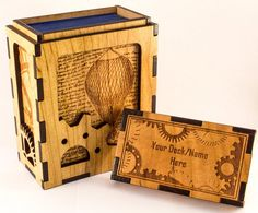 Steampunk Card Deck Box  Magic the Gathering Deck by LacersEdge