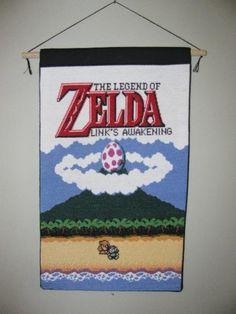 Zelda Glow-in-the-Dark Cross Stitch