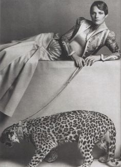Charlotte Rampling in Bill Gibb Ensemble, in Vogue, 1973
