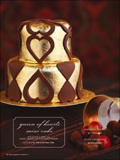 Queen of Hearts Mini Cake.