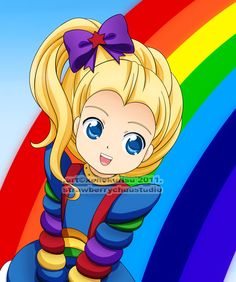 So cute! I commissioned this from Xenny just a couple of months ago, it is of Rainbow Brite. Rainbow Brite was a great kids show from the imho - it . Brite 'n sunny smile 1980 Cartoons, Disney Cartoons, Favorite Cartoon Character, Rainbow Brite, Tv Land, 80s Kids, Classic Cartoons, Anime Fantasy, Kawaii Drawings