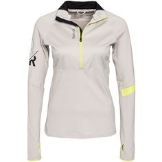 Reebok Performance Dt 1/4 Zip (£60) ❤ liked on Polyvore featuring activewear, jumpers & cardigans, sports fashion, white y womens-fashion
