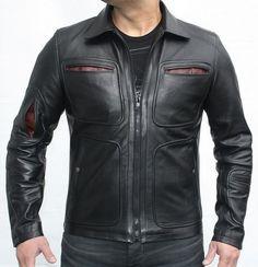 Men Leather Jacket Brand New 100% Genuine Soft Indian Lambskin Bomber Bike GF347 #Handmade #BasicJacket