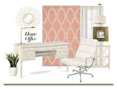 """""""Work at Home"""" by patricia-dimmick ❤ liked on Polyvore featuring interior, interiors, interior design, home, home decor, interior decorating, Safavieh, Gabriella, Herman Miller and Possini Euro Design"""