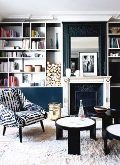 Inside a Chic Parisian Apartment with Bold Accents via @MyDomaine