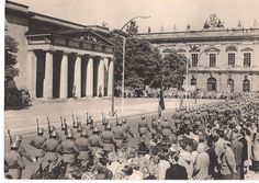 NVA parade in the or German Army, Places To Travel, Paris Skyline, Berlin, Europe, German, Travel Destinations, Destinations