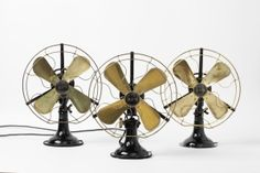 Table Fans, AEG Berlin, 1910/12. Mass production object.