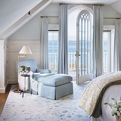 Soft Touch: Victoria Hagan    - Oh to have a Master Bedroom this size!