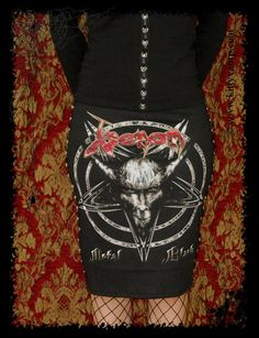 Venom Black Metal Pencil skirt XS S M L XL by kittyvampdesigns, $39.99