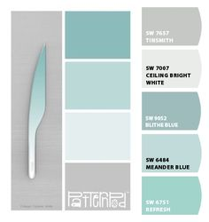 Paint colors from ColorSnap by Sherwin-Williams Turquoise Paint Colors, Coastal Paint Colors, Seafoam Color, Teal Paint, Green Paint Colors, Turquoise Painting, Bathroom Paint Colors, Paint Colors For Home, Bedroom Colors