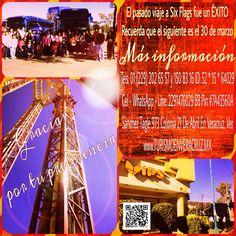Gracias por tu preferencia el viaje a #sixflags fue un éxito, el próximo es el 30 de marzo http://www.aventuraextrema.com.mx/sixflags.htm