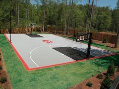60 Best Backyard Courts Images Backyard Sports Basketball Court