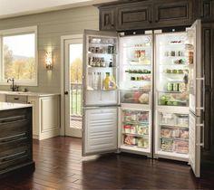 Refrigerador Liebherr Side by Side SBS 32S1 - Refrigerador de piso e de embutir SBS 32S1 todo em aço inox, 876 litros, 151cm de largura, de piso ou de embutir. #LIEBHERR #REFRIGERADOR
