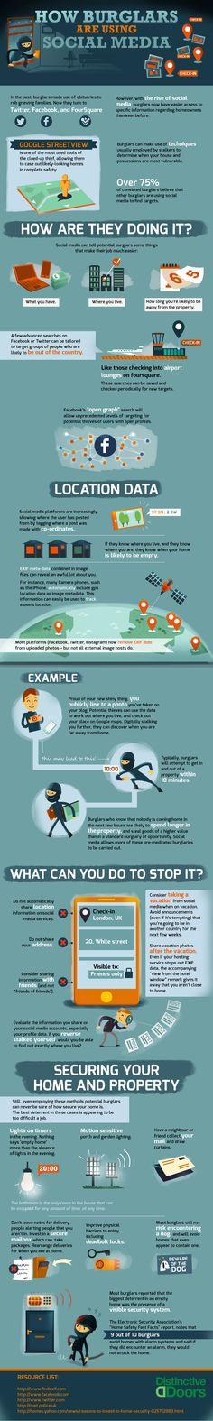 Cómo los ladrones utilizan las redes sociales - Infografía