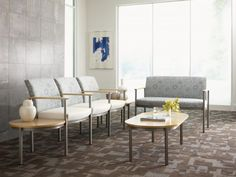 Furniture with antimicrobial finishes inhibit the growth of microbes. Photo courtesy of Carolina Business Furniture.