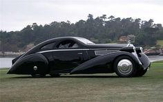 Absolutely stunning! This is the Rolls-Royce Phantom 1 Jonckheere Coupe.