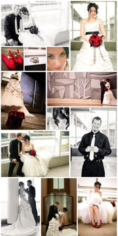 Black and red wedding * vintage wedding *