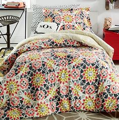 Dormify Willa 3PC Reversible Comforter Set Pink FullQueen -- Click image to review more details.