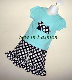 Custom Boutique Clothing Girls High Heel Applique by SewInFashion, $35.00 So cute!