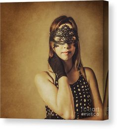 Party Canvas Print featuring the photograph Vintage Theatre Show Girl by Jorgo Photography - Wall Art Gallery
