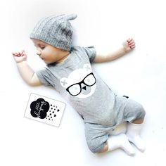2017 Baby Rompers Newborn Baby Boy Girl Clothes Novelty Cartoon Summer Romper Sl