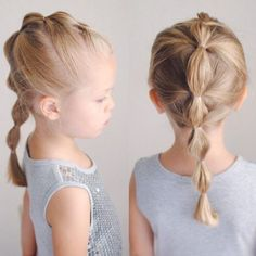 Hair Dos For Kids, Toddler Hair Dos, Easy Toddler Hairstyles, Easy Little Girl Hairstyles, Cute Hairstyles For Kids, Baby Girl Hairstyles, Cool Hairstyles, Hairstyle For Kids, Little Girl Ponytails