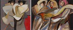 Three Women by Benjamin Cabrera (Bencab)