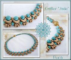 *P Schema necklace Jade by Pucashop on Etsy