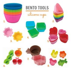 Bento tool must-haves: adorable and functional silicone cups