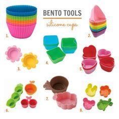 Bento tools: adorable silicone cups