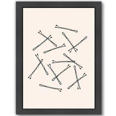 Bobby Pins Framed Graphic Art
