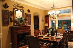 Tuscan Dining Room  Kitchen paint color