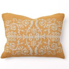 Scroll Print Golden Pillow Pair from @LaylaGrayce #laylagrayce #pillow #gold