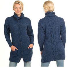 Barcelona jakke- strikket i deilig børstet alpakka