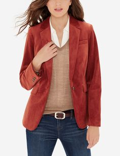 Velvet Jacket - Add a touch of luxury to your day! Ultra soft velvet is posh without getting gaudy. Pair it with dark wash jeans or your go-to LBD!