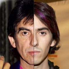 The Shocking Similarities Between Celebrities And Their Parents! • Page 3 of 6 • BoredBug  GEORGE HARRISON's son Dhani is his twin!!!