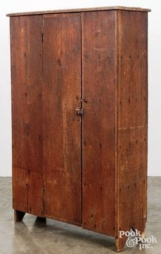 Virginia walnut canning cupboard, c., with a shelved interior and cutout feet, h. Colonial Furniture, Country Furniture, Country Decor, Vintage Furniture, Painted Furniture, Home Furniture, Bedroom Furniture, Furniture Cleaning, Small Furniture