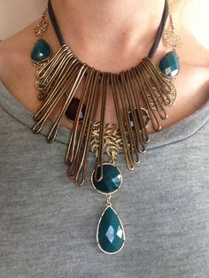stacked statement necklaces on www.laceloveaffair.com
