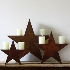 Diy Home Decor Small Wood Projects Would You Believe Can Make These Rustic Wall Stars Inspired By Pottery Barn For Only 4 Each Check