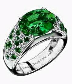 Voyage de Noces Ring , White Gold, Emerald Mauboussin