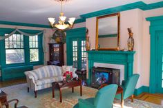 Historic Canner Mansion c.1920 - Living Room