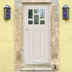 Made to order exterior door, dayna door - fitted with toughened double glazing, made to measure to your sizes. Timber Front Door, Front Door Entrance, House Entrance, 1930s Doors, Door Fittings, External Doors, Traditional Doors, Door Sets, Back Doors