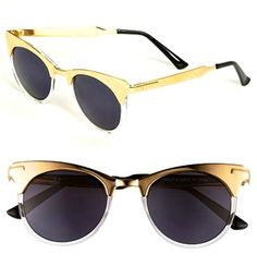 gold and bronze sunnies
