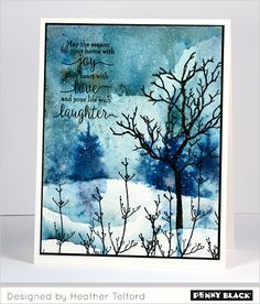 Penny Black's newest collections, Winter Romance and Especially for You 2015, feature a variety of products designed to offer crafting VERSATILITY. The Penny Black designers share a winter-themed project and then transform their design to suit another season using the same featured product(s)! Click through for supplies and instructions.