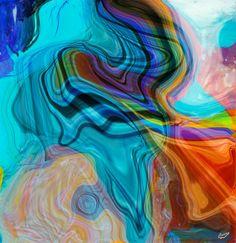 """Pintura digital abstracta de Francisco Cuéllar """"Cusan"""" https://www.facebook.com/CusanArteDigital http://www.cusanartedigital.com/"""