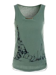 Ink And Wash Sleeveless O-Neck Cool T Shirts Plus Size Clothing on buytrends.com