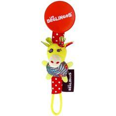 L'attache tétine Operchos la girafe de la marque Les Déglingos pratique et rigolo pour que le bébé garde sa tétine à portée de main.